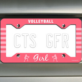 Volleyball License Plate Holder Volleyball Girl