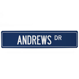 "Personalized Aluminum Room Sign - Custom Name Drive (4""x18"")"