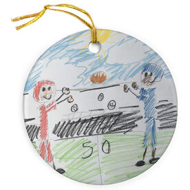 Football Porcelain Ornament Your Drawing