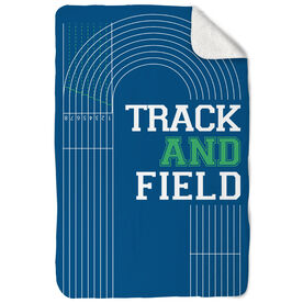 Track & Field Sherpa Fleece Blanket - Track and Field Lanes