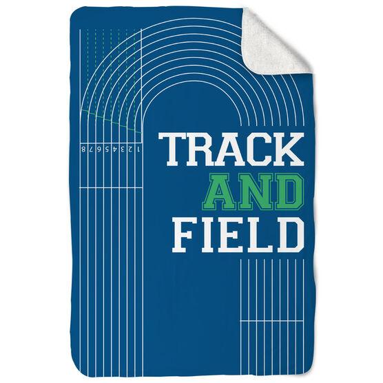 Track & Field Sherpa Fleece Blanket - Track and Field Lanes