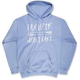 Girls Lacrosse Standard Sweatshirt Lax Hair Don't Care