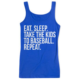 Baseball Women's Athletic Tank Top - Eat Sleep Take The Kids To Baseball