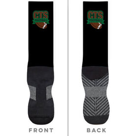 Football Printed Mid-Calf Socks - Your Logo