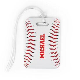Baseball Bag/Luggage Tag - Personalized Stitches