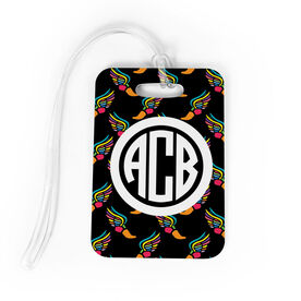 Track and Field Bag/Luggage Tag - Personalized Track & Field Pattern Monogram