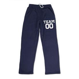 Fleece Sweatpants - Custom Team Name And Number