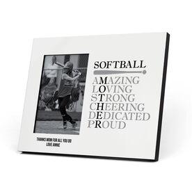 Softball Photo Frame - Mother Words