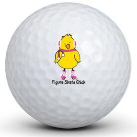 Figure Skating Chick Golf Balls