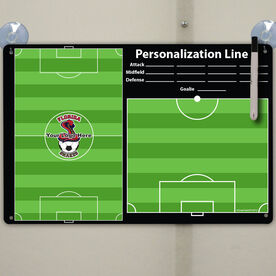 """Soccer Custom Dry Erase Coach Board Full And Half Field With Roster - 18"""" X 12"""""""