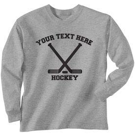 Custom Hockey T-Shirt Long Sleeve