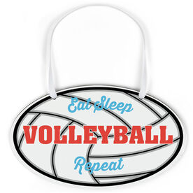 Volleyball Oval Sign - Eat Sleep Volleyball Repeat