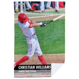 Baseball Premium Blanket - Custom Baseball Player Photo
