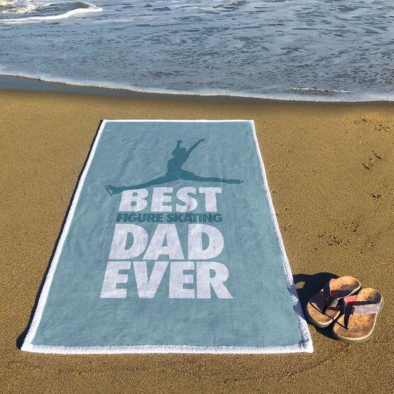 Figure Skating Premium Beach Towel - Best Dad Ever