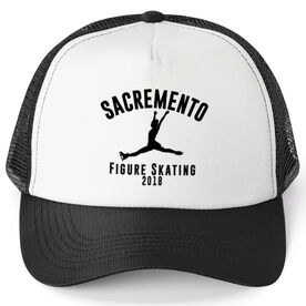 Figure Skating Trucker Hat - Team Name With Curved Text