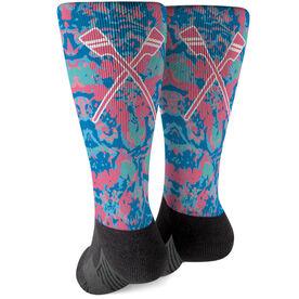 Crew Printed Mid-Calf Socks - Floral Crew