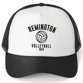 Volleyball Trucker Hat - Team Name With Curved Text