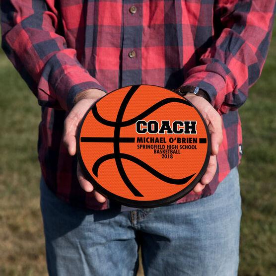 Basketball Circle Plaque - Coach Ball