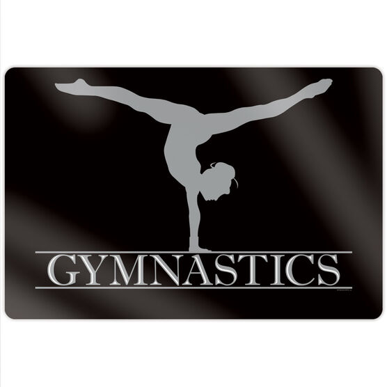 "Gymnastics 18"" X 12"" Aluminum Room Sign - Crest"