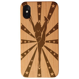 Cheerleading Engraved Wood IPhone® Case - Sparkle