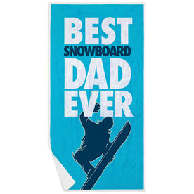 Snowboarding Premium Beach Towel - Best Dad Ever
