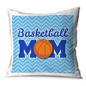 Basketball Throw Pillow Basketball Mom