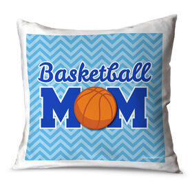 Basketball Throw Pillow Basketball Mom