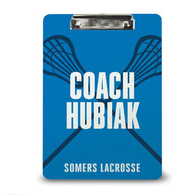 Guys Lacrosse Custom Clipboard - Coach