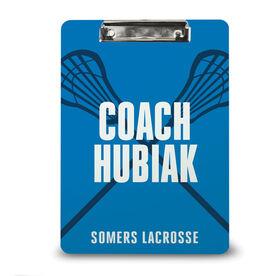 Guys Lacrosse Custom Clipboard - Coach