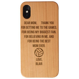 Volleyball Engraved Wood IPhone® Case - Dear Mom Thank You Heart