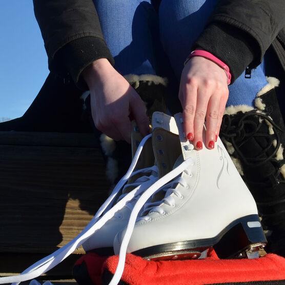 Figure Skating Leather Engraved Bracelet Love Figure Skating