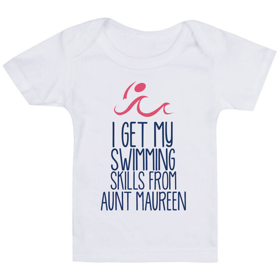 Swimming Baby T-Shirt - I Get My Skills From