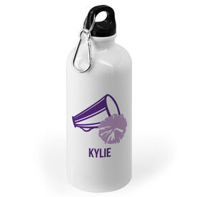 Cheerleading 20 oz. Stainless Steel Water Bottle - Megaphone With Name