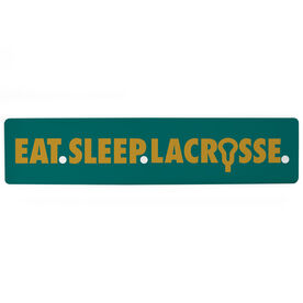 "Guys Lacrosse Aluminum Room Sign - Eat Sleep Lacrosse (4""x18"")"