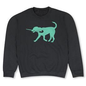 Field Hockey Crew Neck Sweatshirt - Flick The Field Hockey Dog