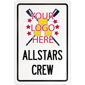 "Crew 18"" X 12"" Aluminum Room Sign Crew Custom Logo With Team Name"