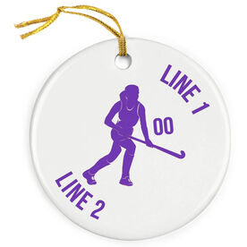Field Hockey Porcelain Ornament Field Hockey Player