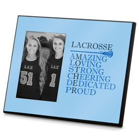 Girls Lacrosse Photo Frame - Mother Words