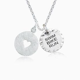 Livia Collection Sterling Silver Swim Bike Run Love Necklace