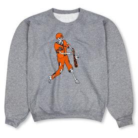 Baseball Crew Neck Sweatshirt - Home Run Zombie