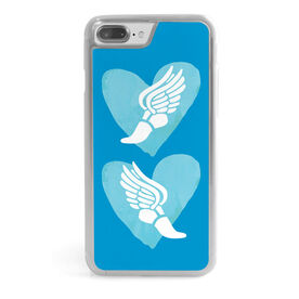 Running iPhone® Case - Watercolor Heart Winged Foot