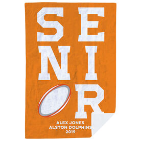 Rugby Premium Blanket - Personalized Senior