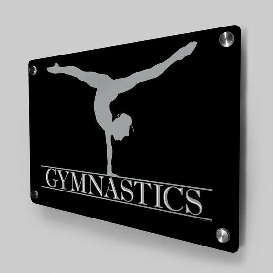 Gymnastics Metal Wall Art Panel - Crest
