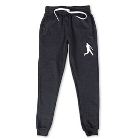 Baseball Men's Joggers - Batter Silhouette