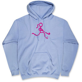 Field Hockey Hooded Sweatshirt - Neon Field Hockey Girl