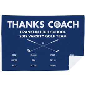 Golf Premium Blanket - Thanks Coach (Horizontal)