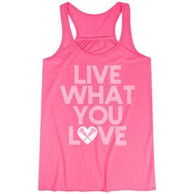 Girls Lacrosse Flowy Racerback Tank Top - Live What You Love
