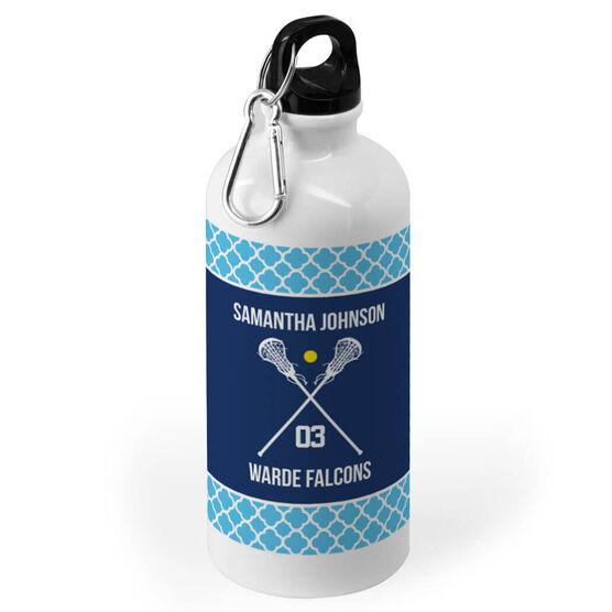 Girls Lacrosse 20 oz. Stainless Steel Water Bottle - Team Crossed Sticks