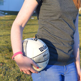 Volleyball Leather Engraved Bracelet Name Ball Number