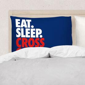 Cross Country Pillowcase - Eat. Sleep. Cross Country.